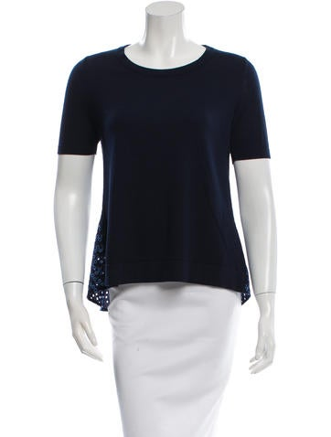 Akris Punto Wool Eyelet Top w/ Tags None