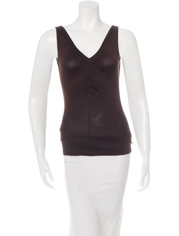 Akris Punto Sleeveless V-Neck Top None