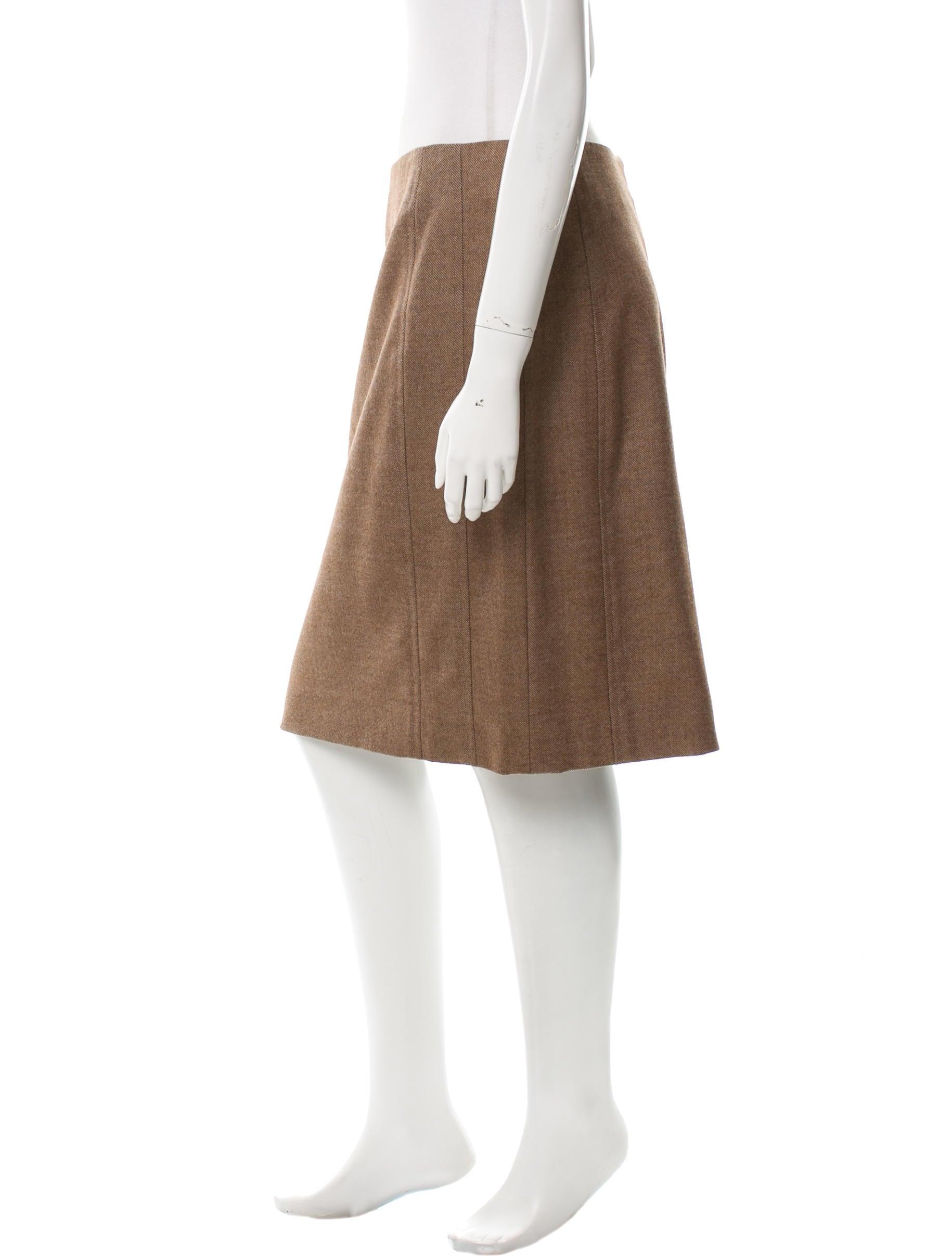 akris punto wool knee length skirt clothing wak26819