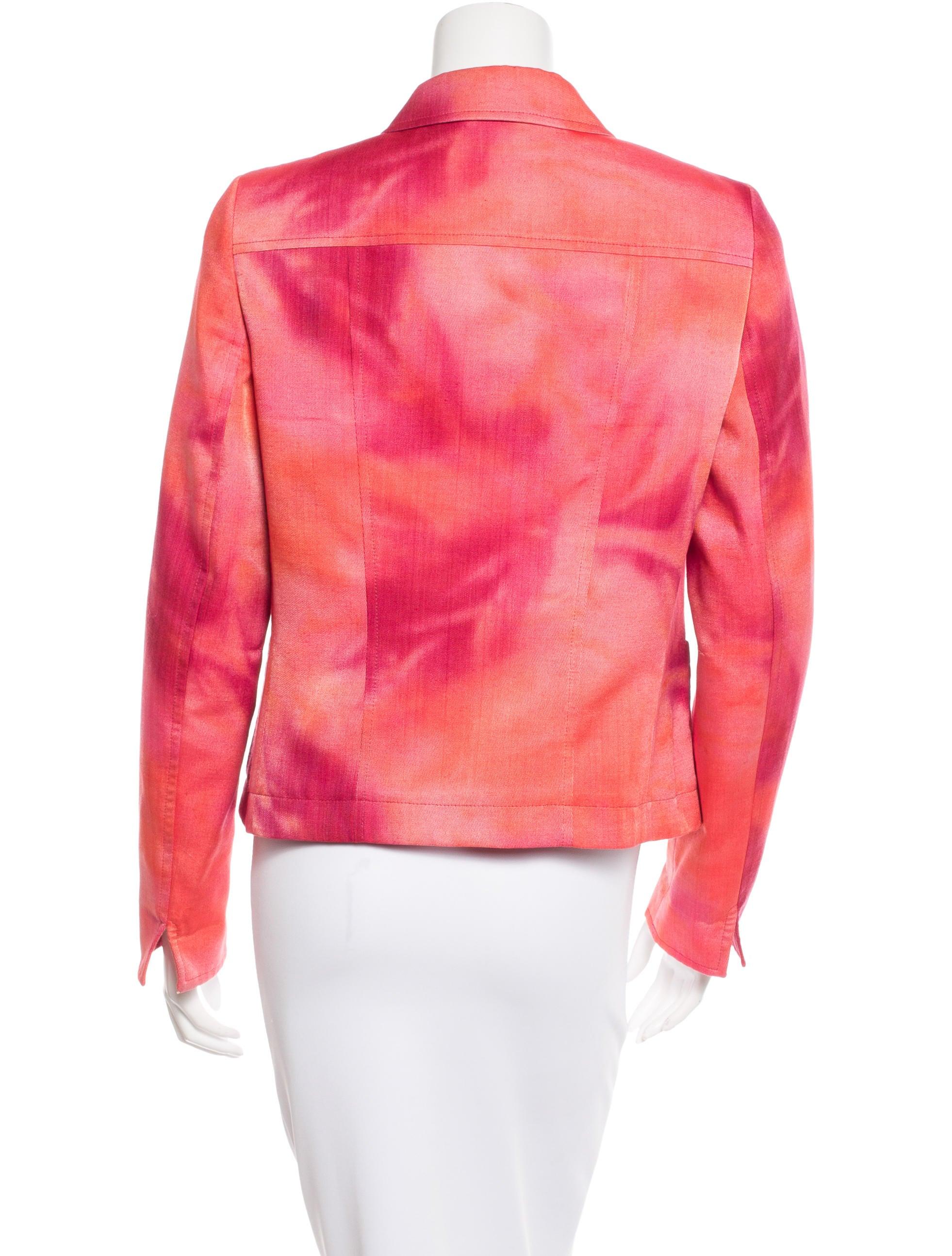 akris punto tie dye button up jacket clothing wak26869