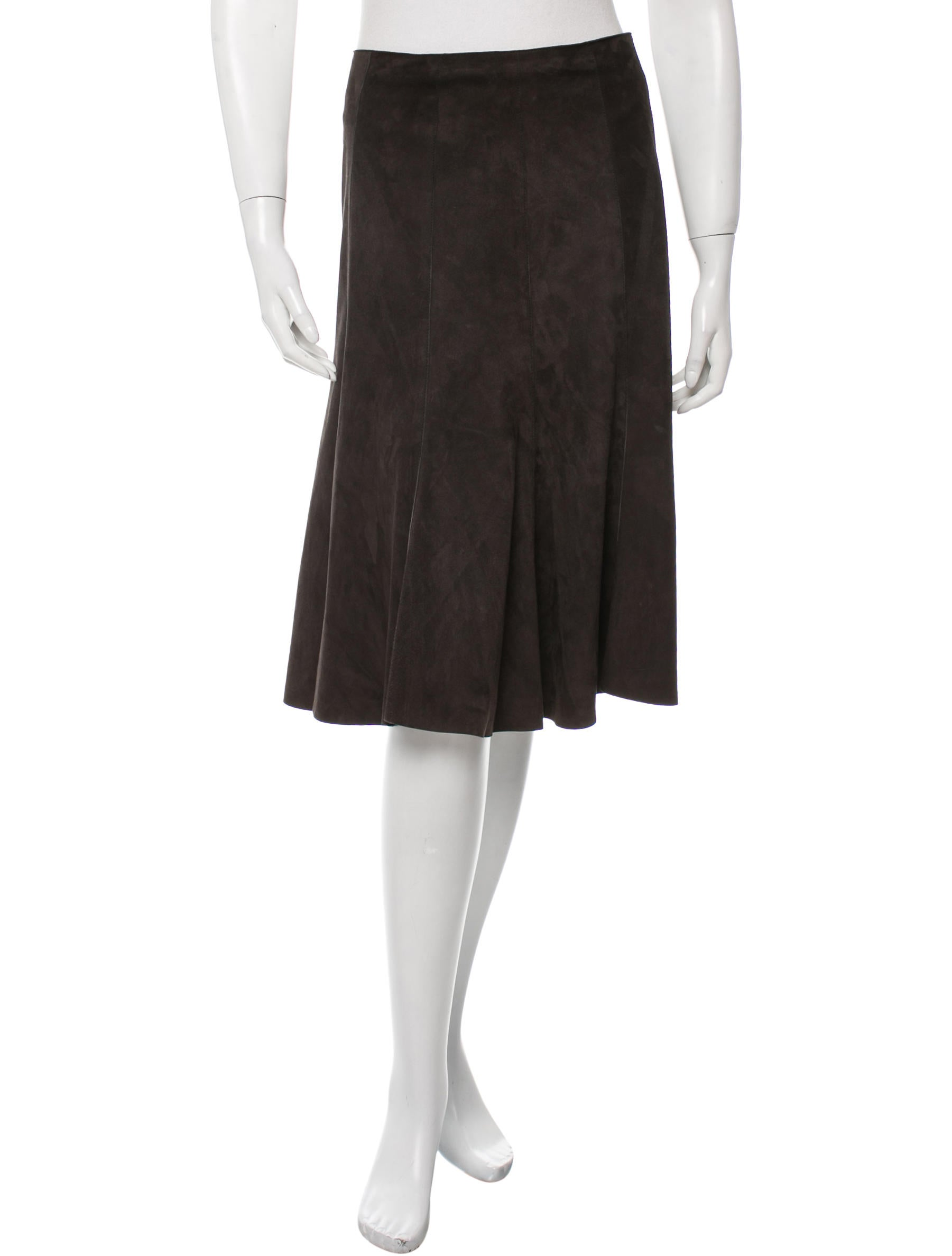 akris punto flared knee length skirt clothing wak27027