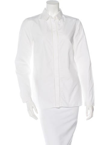 Akris Punto Eyelet-Trimmed Button-Up Top None