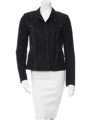 Akris Punto Notch-Lapel Long Sleeve Blazer