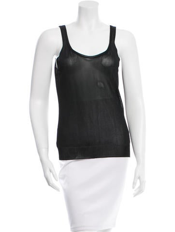 Akris Punto Sleeveless Scoop Neck Top None