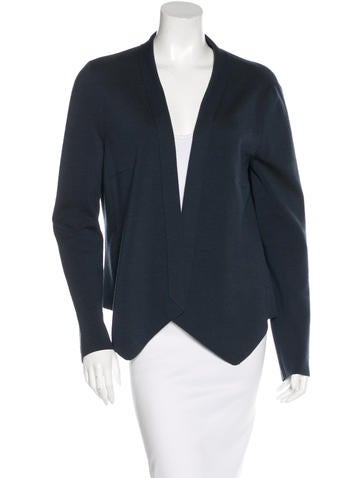 Akris Punto Wool Rib Knit Cardigan None