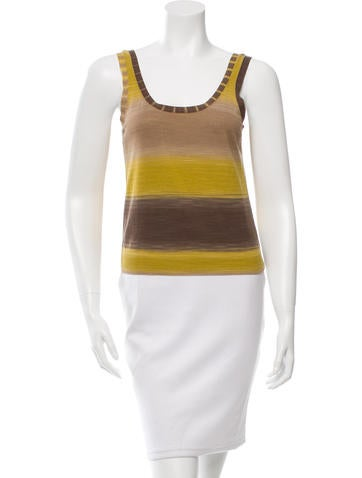 Akris Punto Scoop Neck Sleeveless Top None