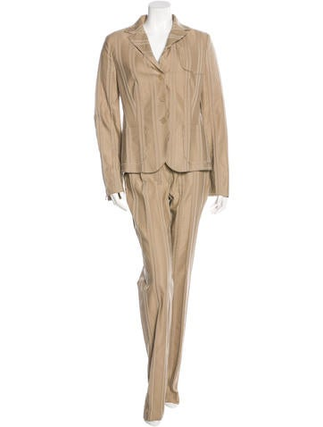 Akris Punto Striped Straight-Leg Pantsuit None
