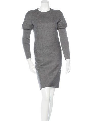Akris Punto Wool Knee-Length Dress None
