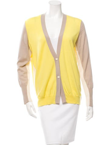 Akris Punto Colorblock V-Neck Cardigan None