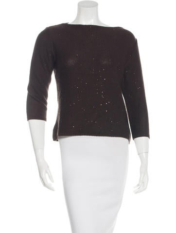 Akris Punto Wool-Blend Sequined Sweater None