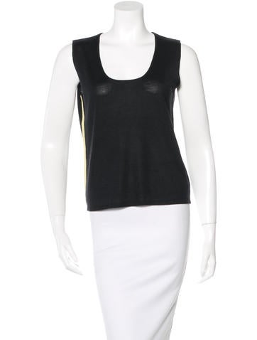 Akris Punto Cashmere Blend Sleeveless Top None