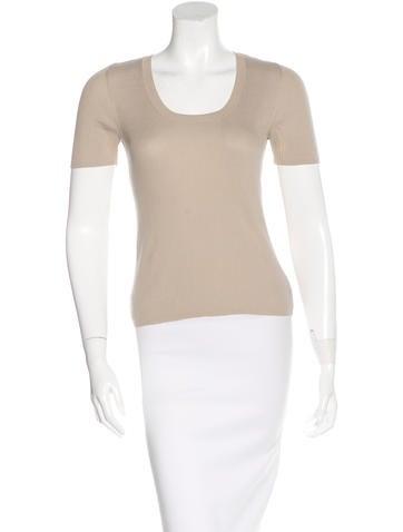 Akris Punto Knit Short Sleeve Top None