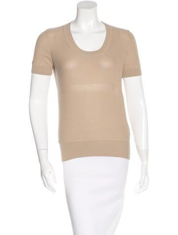 Akris Punto Short Sleeve Knit Top None