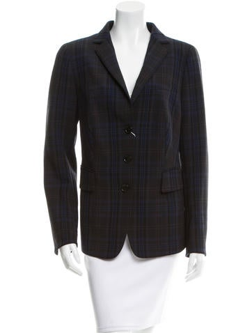 Akris Punto Plaid Button-Up Blazer w/ Tags