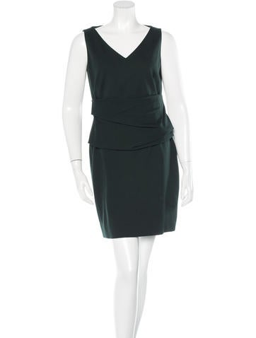 Akris Punto Sleeveless V-Neck Dress None