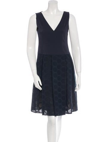 Akris Punto Sleeveless A-Line Dress None