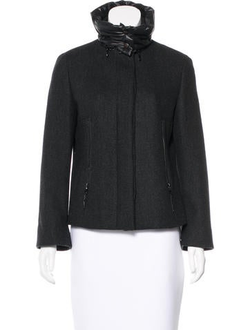Akris Punto Convertible Wool Jacket