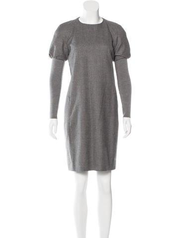 Akris Punto Long Sleeve Wool Dress None