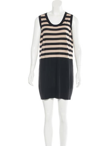 Akris Punto Wool Striped Dress None
