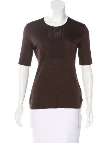 Akris Punto Knit Short Sleeve Top None