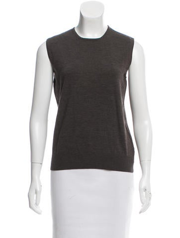 Akris Punto Sleeveless Wool Sweater None