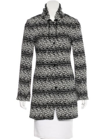 Akris Punto Printed Rib Knit Jacket None
