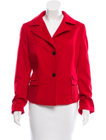 Akris Punto Wool Notch-Collar Jacket None