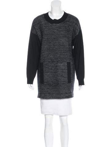 Akris Punto Paneled Knit Sweater None