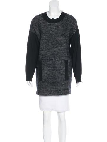 Akris Punto Paneled Knit Sweater None
