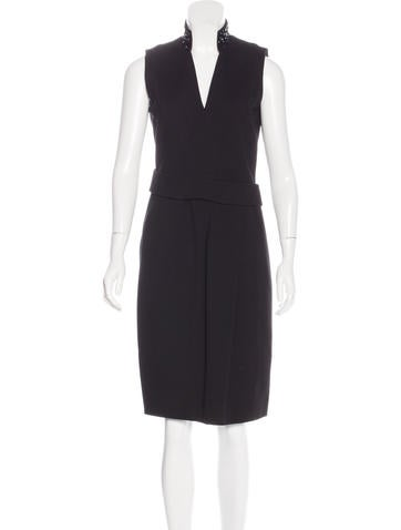 Akris Punto Sleeveless Sheath Dress None