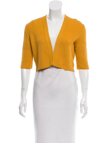 Akris Punto Cropped Open Front Cardigan None