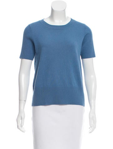 Akris Punto Wool-Blend Short Sleeve Sweater None