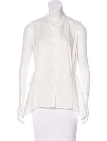 Akris Punto Asymmetrical Button-Up Top None