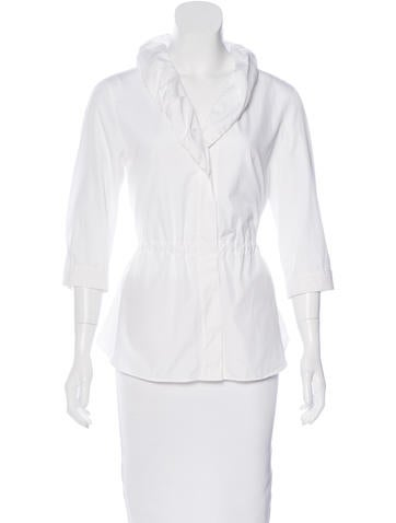 Akris Punto Structured Button-Up Top None