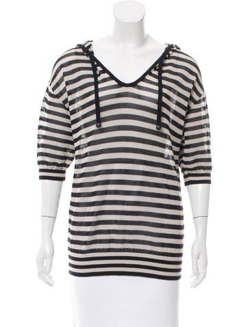 Akris Punto Perforated Knit Sweater None