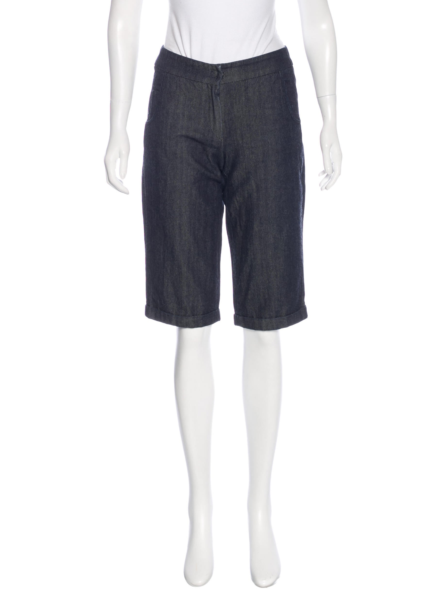 Akris Punto Knee-Length Denim Shorts - Clothing - WAK29491 ...