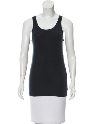 Akris Punto Sleeveless Wool Top None