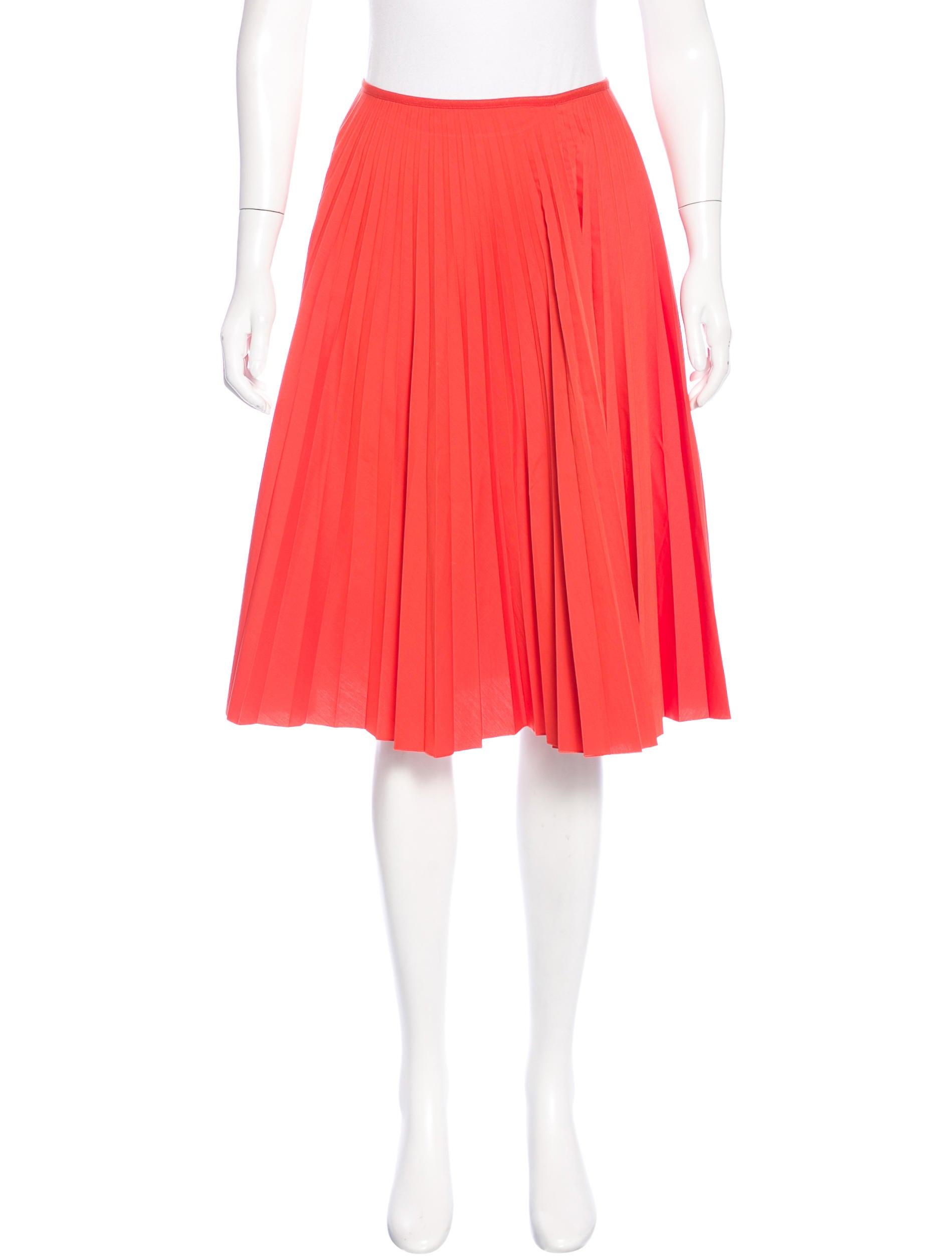 akris punto pleated a line skirt clothing wak29917