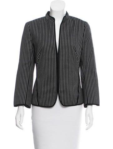 Akris Punto Striped Knit Wool Jacket None