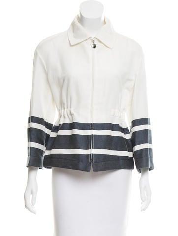Akris Punto Stripe-Accented Lightweight Jacket None