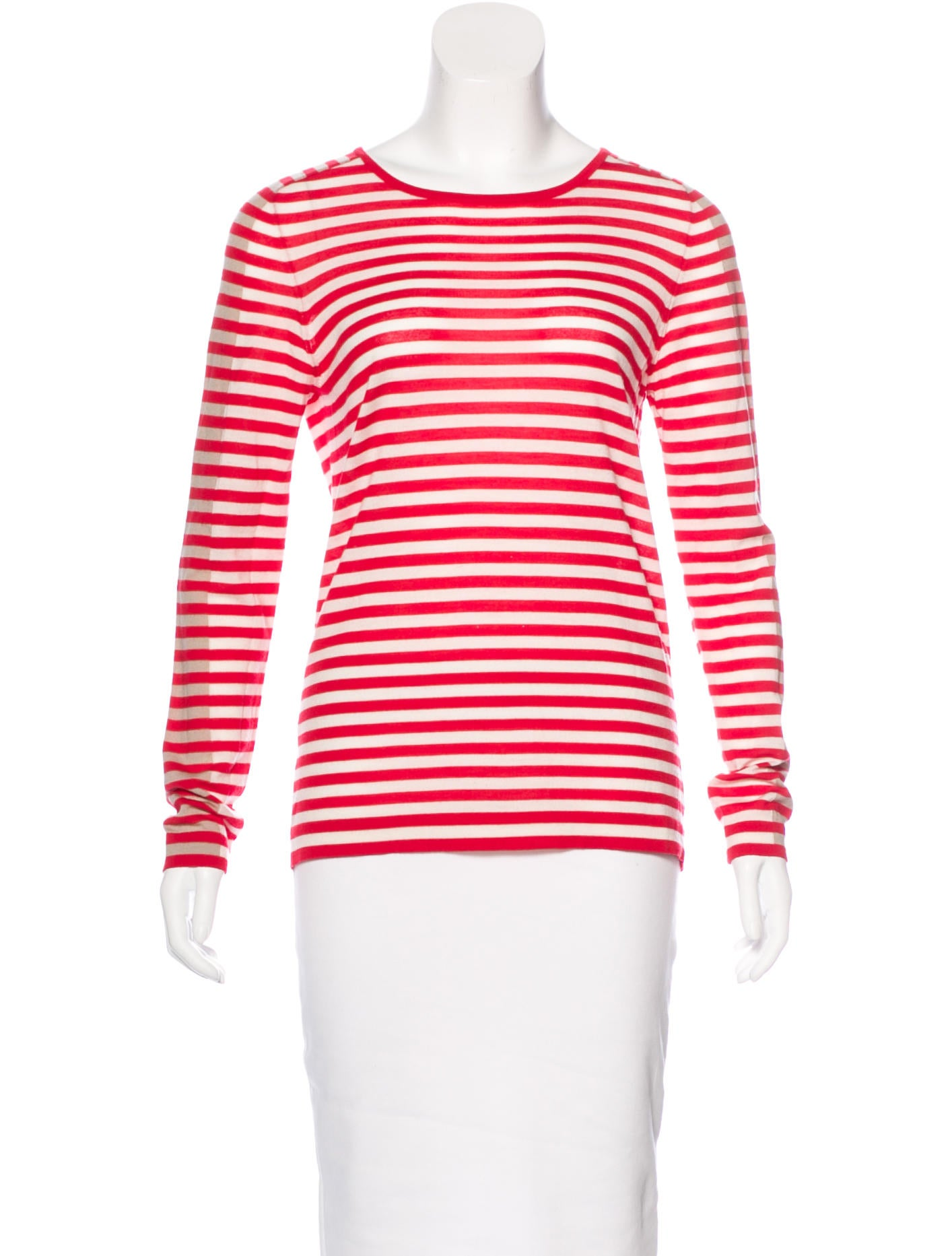 Akris punto wool striped top clothing wak30305 the for Best wool shirt jackets