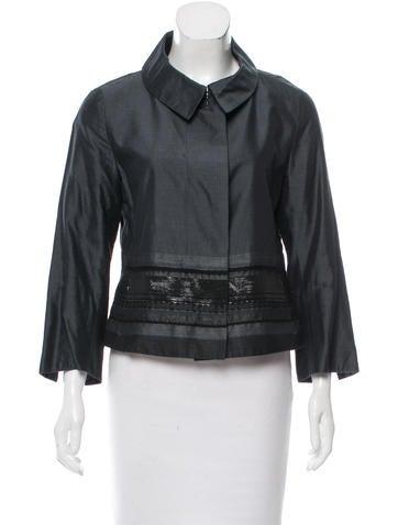Akris Punto Cropped Knit Jacket None