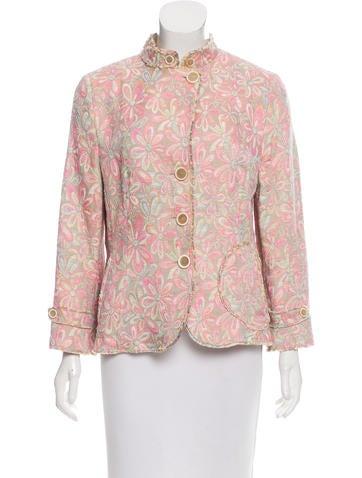 Akris Punto Floral Knit Jacket None