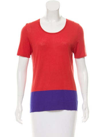 Akris Punto Wool Colorblock Top None