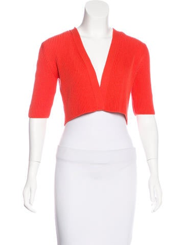 Akris Punto Cropped Knit Shrug None