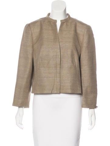 Akris Punto Silk Cropped Jacket None