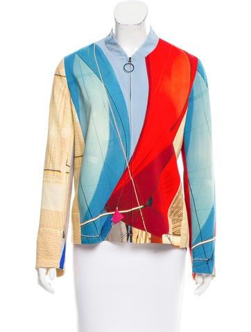 Akris Punto Boat Print Lightweight Jacket None
