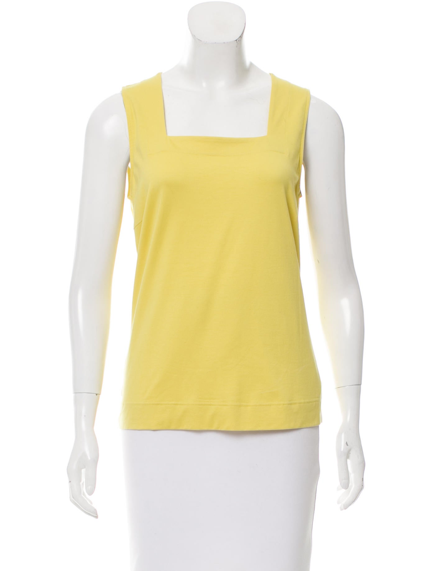Dining Room Table Size For 10 Akris Punto Sleeveless Square Neck Top Clothing