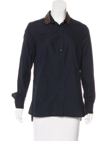 Akris Punto Embellished Button-Up Top None