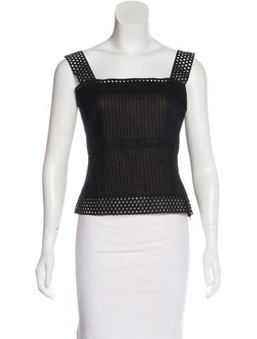 Akris Punto Pleated-Accented Sleeveless Top None